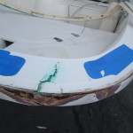 Fiberglass/ Gelcoat Repair - Before